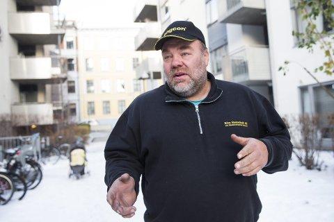 UTLEIER: Kim Steinsholt fra Lardal eier flere boliger i Oslo og i Vestfold som han leier ut. Her er han i Ringnes park i Oslo, hvor han eier to leiligheter.