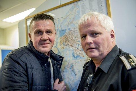 Gatenavn: Entydige adresser skal nå innføres i kommunen. Totalt 58 veier må få nytt veinavn. – Vi oppfordrer nå innbyggerne til å komme med forslag til nye gatenavn, sier Kolbjørn Hem (t.v.) og Jan Olav Vagle.