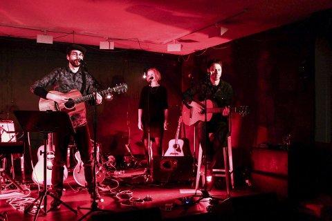 Egen scene: Kristian Kaupang og hans band fikk scenen alene.foto: rolf mikkel johansen