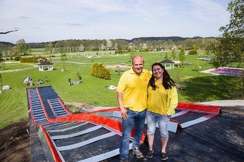 Rekord igjen: Sigmund og Helene Foldvik i Foldvik familiepark kan glede seg over nye rekorder.