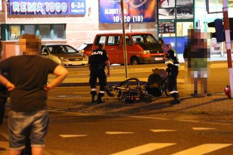 SYKKELULYKKE: En syklist skal ha fått hodeskader i en ulykke på Øya fredag kveld.