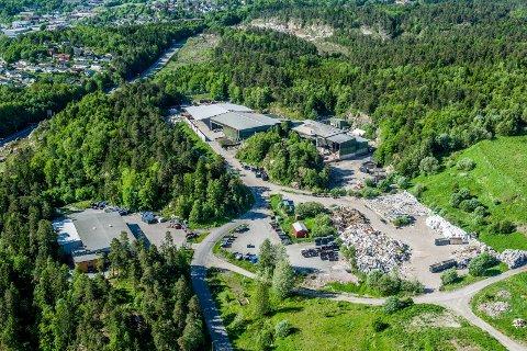 Flyfoto Norsk Gjenvinnings avfallsanlegg Grinda