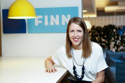 IKKE HELT OVERRASKET: Kristine Eia Kirkholm, PR- og informasjonsansvarlig i Finn. Pressefoto.