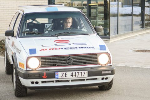 NIENDEPLASS: Anders Kjær sikret seg en niendeplass under Numedalsrally lørdag.