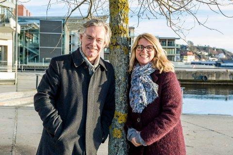 Klare for møte nummer to: Bjørn Z. Ekelund og Kjersti Bache.