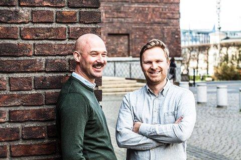 VUNNET PRIS: Jens Werner Andersen (f.v.) og Erik Louis Tvedt har vunnet pris sammen med Gambit og Norad, og i mai kan de vinne flere priser.