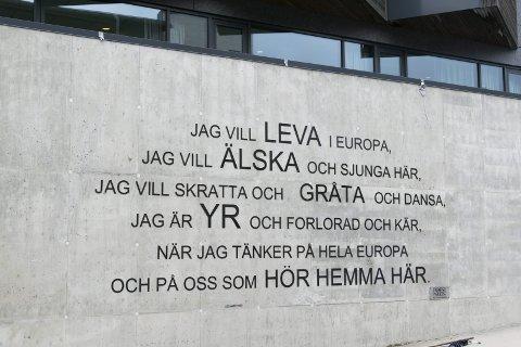 Tydelig: På veggen til Farris Bad hylles hele Europa.
