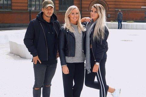 God hjelp: Samboere og med-deltakere på Paradise Hotel Morten Botten og Sofie Nilsen (t.h.) har tatt seg av jobben å finne den rette for Andrea.