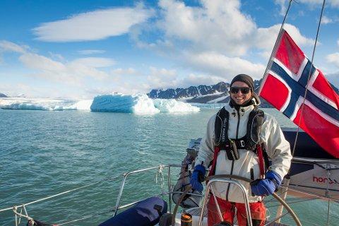 STOR EKSPEDISJON: Mats Grimsæth (22) fra Larvik kan bli den yngste kapteinen til å seile rundt Spitsbergen på Svalbard.