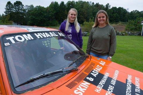 LANDSFINALEKLARE: Marlene Sundet (t.h.) og Marte Marthinsen er klare for landsfinalen i bilcross på Momarken til helgen.