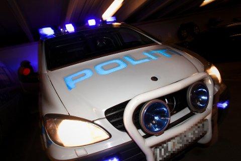 Vold og trusler: Politiet arresterte den truende 41-åringen i en bolig i sentrum søndag kveld.