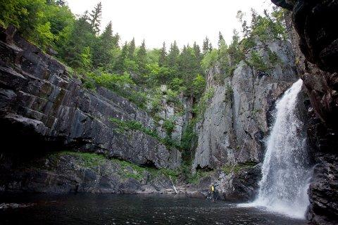 JUV: Hvis det er for stor vannføring i Daleleva er det ikke mulig å komme ned til Trollfoss. Turistforeningen håper søndagens vær og vannføring blir helt perfekt.