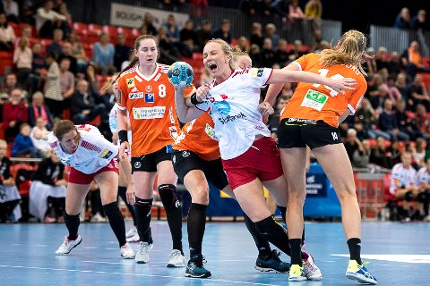 IKKE MED: Emilie Christensen debuterte i VM i fjor, men fikk ikke plass i årets EM-tropp.