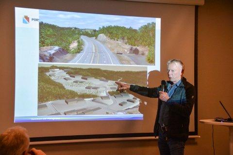 NÆRINGSOMRÅDE: Det kan bli motell, bensinstasjon, dagligvare, trelasthandel, i tillegg til store næringsbygg ved Lønnebakke og nye E18, forteller  saksbehandler Einar Barosen i Porsgrunn kommune.