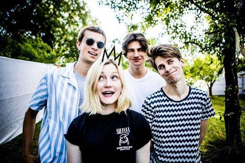 TØFT: Bandet Sløtface har markerte seg sterkt det siste året. På Kulturnatt kommer de til Fabrikken.