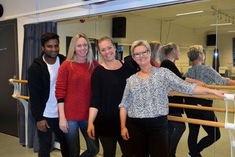 DANS DA VEL: Jeran Karunairaja, Kaja Lauten, Cathrine Bengtson og Elin Hellesøe Rusti er kjente fjes på Studio Nille. Nå kan du bli kjent med en dans også.