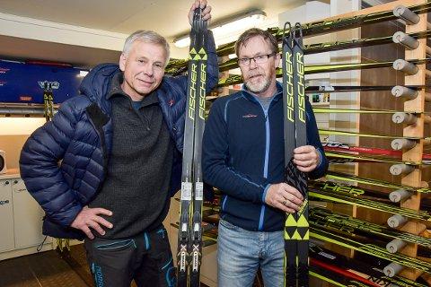 SKISLIP: – I starten var vi et tilbud til Lardal og Lågendalen, men nå begynner vi å bli anerkjent over resten av landet, sier Arne Lindsverk (t.v.) og Per Olav Hoff, som er henholdsvis styreleder og kontaktperson i Skislip AS.