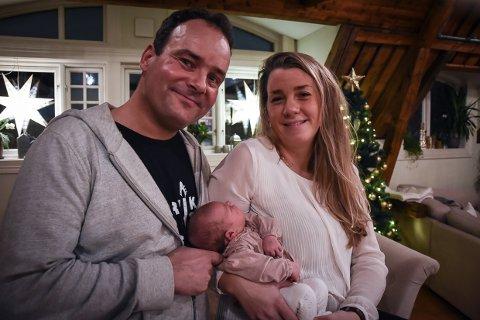 JULELYKKE: Det blir en helt spesiell jul for Olav Rønneberg (47) og kona Gina (29).