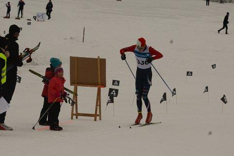 NUMMER SJU: Marius Rønningen Skaug fra Svarstad IL ble nummer sju i skicrossen under hovedlandsrennet.