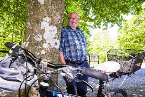 Historisk sykkeltur: Aage Irgens Høeg lokker med sykkeltur langs historiske steder i nærområdet 2. pinsedag.