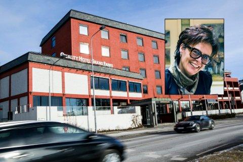 SLIPPER IKKE PRIKK: Men hotelldirektør Lilly Skow Røed (innfelt) tar alkoprikken med et smil. – Jeg tar prikken med glede og til etterretning, skriver hun i en sms til ØP.