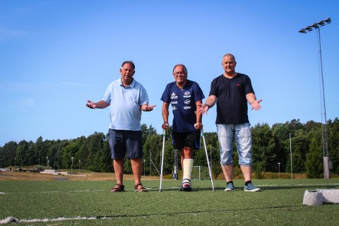 KABAL: Morten Thunberg (venstre), Roy Gogstad og Even Svindal har utfordringer med å få treningskabalen til å gå opp denne vinteren. (Arkivfoto: Silje Langvik)