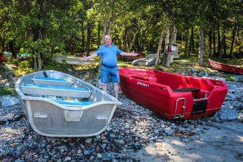 Ser etter løsninger: Leder i Hovet båtforening Sverre Horn opplever innbrudd på hytteområdet samt frastjålede påhengsmotorer for andre sommeren på rad. Nå leter han etter løsninger for sikre plassen bedre.