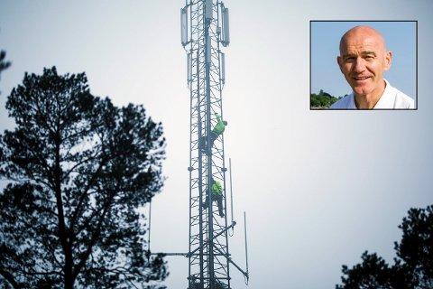 IKKE AKSEPTABELT: Varaordfører Olav Nordheim (Sp) synes det er for dårlig at enkelte beboere i Larvik nesten ikke har internett- eller mobildekning.