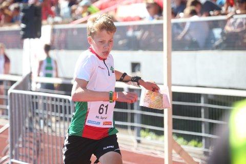 AV LANDETS BESTE: Henrik Kaupang Lye fra Larvik ble nummer fire og 17 under Hovedløpet.