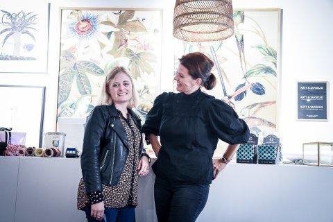 SATSER: Eier Ida Brandsæter Helgeland (t.h) og web-og markedsansvarlig Nicoline Hornum Tolbod satser stort på digital handel i tillegg til sine fysiske butikker.