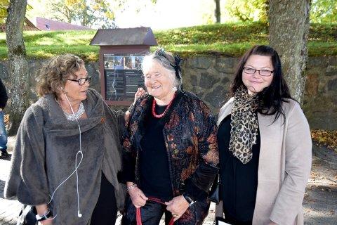 LÅVEN: Anne Grethe Aune, Laila Leknes og Signy Magnusdottir, finner du i Låven på Fredriksvern verft.