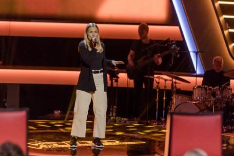 LEVERTE - MEN GIKK UT: Amanda Rusti gjorde nok en strålende opptreden i The Voice. Men det holdt ikke til finale, dessverre.