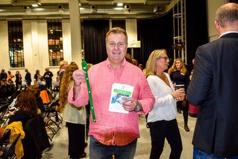 PRISES: Vidar Rinde Halvorsen og hans firma SensCom fra Nøtterøy fikk mye oppmerksomhet under Gründerukas siste dag,
