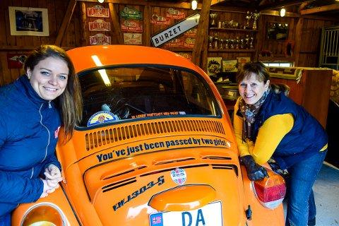FULL FART: Tine og Torhild Hallre kjører rally i Monte Carlo og går for den store pokalen.