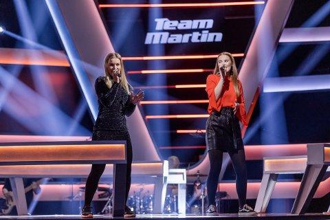 DUELL: Amanda Rusti (21) fra Larvik som skal i duell med Viktoria Birkeli (20) fra Oslo i The Voice fredag kveld.