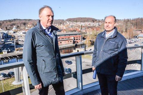 ENIGE OM VINDKRAFT: Treschow Fritzøe og Thor Eika vil investere store penger i vindkraft. Krf-politiker Olaf Holm mener politikerne bør legge til rette for at det skal bli mulig.