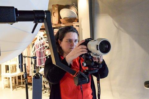 STUDIO BUCK: Ane Cathrine Buck har bygd et stort flott fotostudio i Stavern.