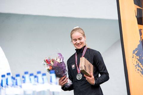 Best i Norden: Malin Edland fra Svarstad vant 1.500 meteren under Nordenkampen i Finland søndag ettermiddag.