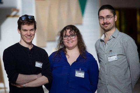 FÅR MILLIONSTØTTE: Sandefjordingen Lise Hagen Lie. Her med kollegaene Alexander Jonassen og Christer Rebni.