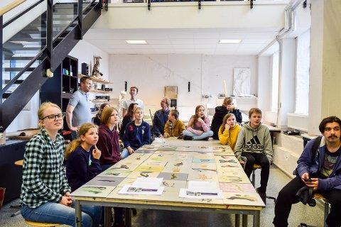 KULTUR: Larvik kulturskoles visuelle kunstelever skal få vist fram sine produkjsoner i Italia denne uken.