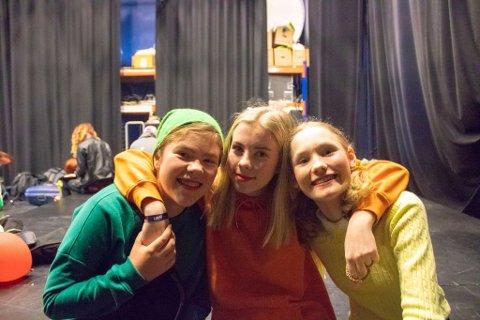 Skuespirene, Mathilde, Julie og Signe deltok også i helgens UKM.
