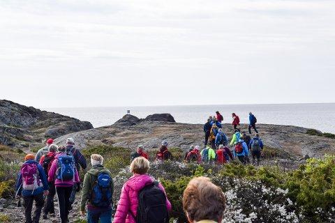 KYSTSTIEN: Mange benytter kyststien i Brunlanes, men organiserte turer er det ikke så mange av. Det betyr lite med tanke på hvor tilgengelig turområdene er.
