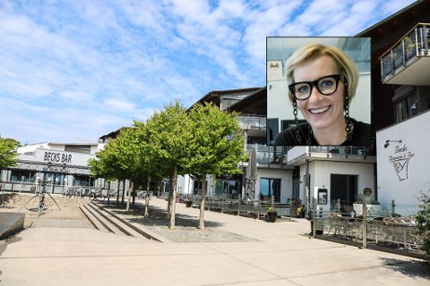 IKKE TOMT LENGE: – Det vil ikke ta lang tid før vi har nye folk på plass her, sier Fritzøe Eiendoms Hedda Johannessen (innfelt).