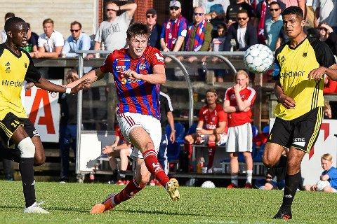 Herman Solberg Nilsen scoret ta Fram vant 3-1 mot Bærum i cupen for en knapp måned siden. Kan de gjenta seieren i serien?