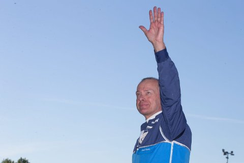GLAD TIL SLUTT: Frode Hamre avsluttet Jarlsberg-helgen med to seirer etter mye stang-ut de første dagene.