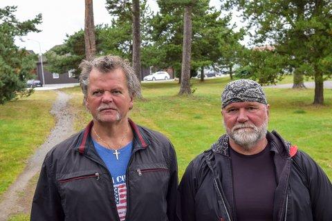 Morten og Tom Jensen er blant de som ikke ønsker de nye forandringene kommunene har planlagt for Furumoa.