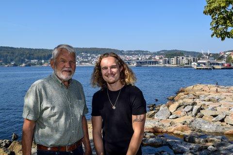 TO GENERASJONER: Per Thorstensen får årets kulturpris i Larvik, mens Andreas Oxholm får kulturprisen som ung utøver.