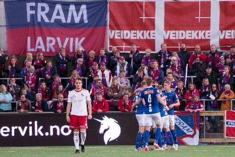STORT ØYEBLIKK: Frams kvartfinale mot Ranheim var et høydepunkt for både Jone Rugland og supporterne i 2019. I ØPs store sportsquiz denne julen er Fram fotball en egen kategori.