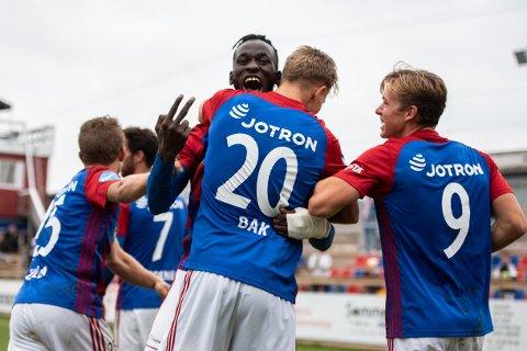 SEIERSKLEM: Mame Ndiaye scoret det avgjørende målet som sørget for at Fram vant 3-2 over Notodden.
