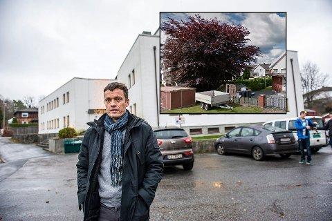 BEKLAGER: Terje Lund i Larvik kommunes eiendomsavdeling bekrefter at kommunen felte dette treet uten å søke kommunen, slik reglene tilser.